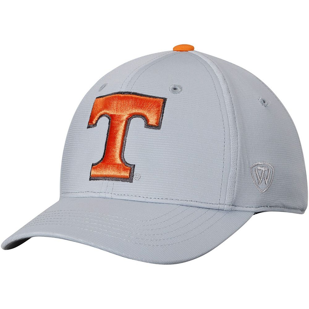 Men's Top of the World Gray Tennessee Volunteers Impact 1Fit Flex Hat