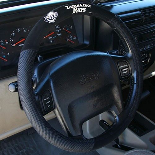Tampa Bay Rays Poly-Suede Steering Wheel Cover