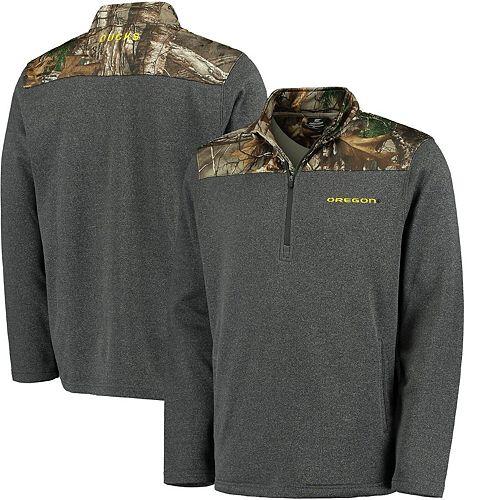 Men's Colosseum Charcoal Oregon Ducks Timber Half-Zip Jacket