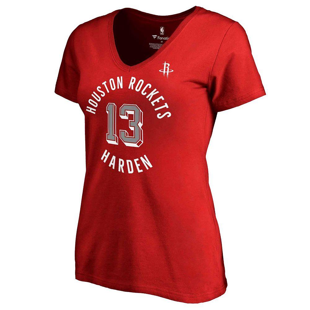 Women's Fanatics Branded James Harden Red Houston Rockets Plus Size Notable T-Shirt
