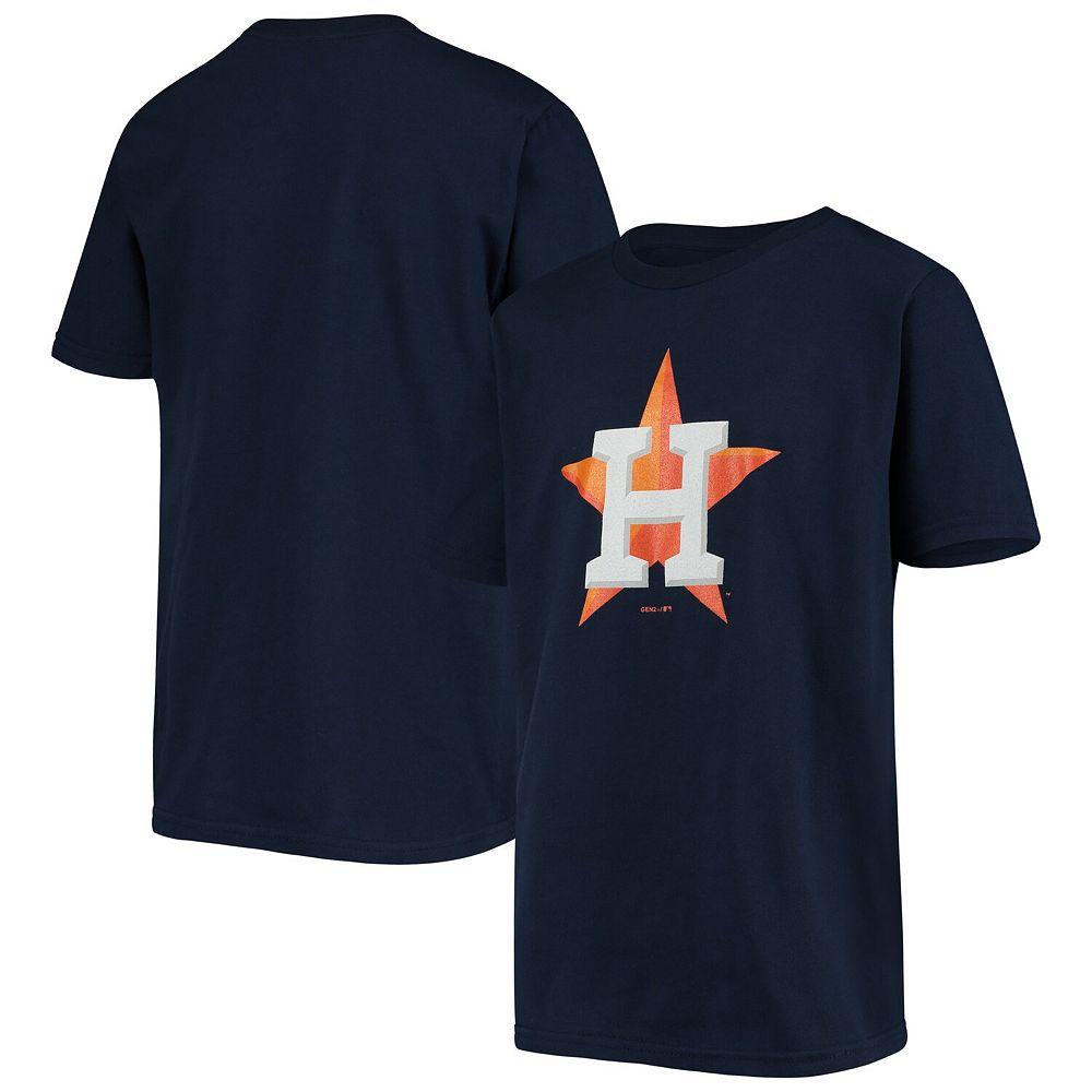 Youth Navy Houston Astros Primary Logo Team T-Shirt