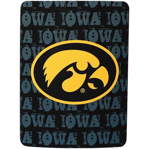 "The Northwest Company Iowa Hawkeyes 46"" x 60"" Grunge Micro Raschel Throw Blanket"