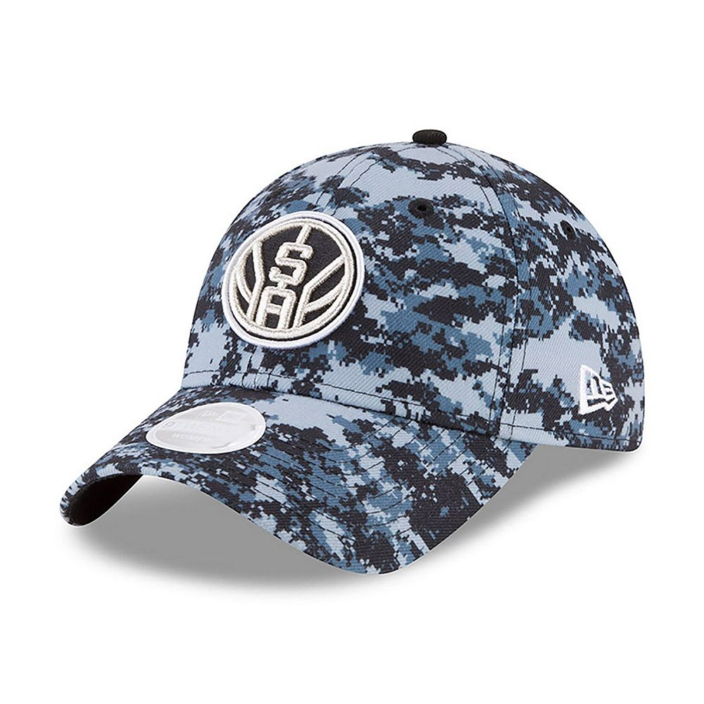 Women's New Era Black/Gray San Antonio Spurs NBA City Series 9TWENTY Adjustable Hat