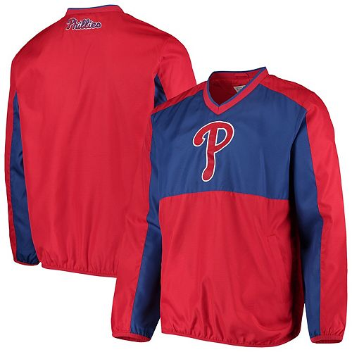 Men's G-III Sports by Carl Banks Red/Royal Philadelphia Phillies High Heat V-Neck Pullover Jacket