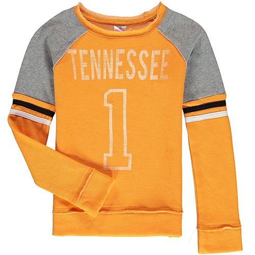 Girls Youth Colosseum Tennessee Orange Tennessee Volunteers Double Axel Pullover Sweatshirt