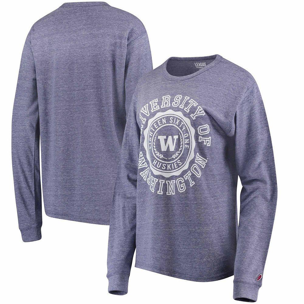 Women's Purple Washington Huskies League Oversized Twisted Tri-Blend Long Sleeve T-Shirt