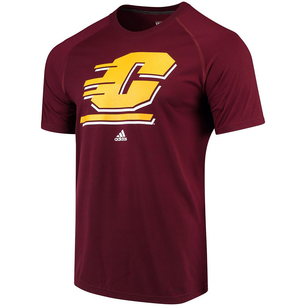 Men's adidas Maroon Cent. Michigan Chippewas School Logo Ultimate T-Shirt