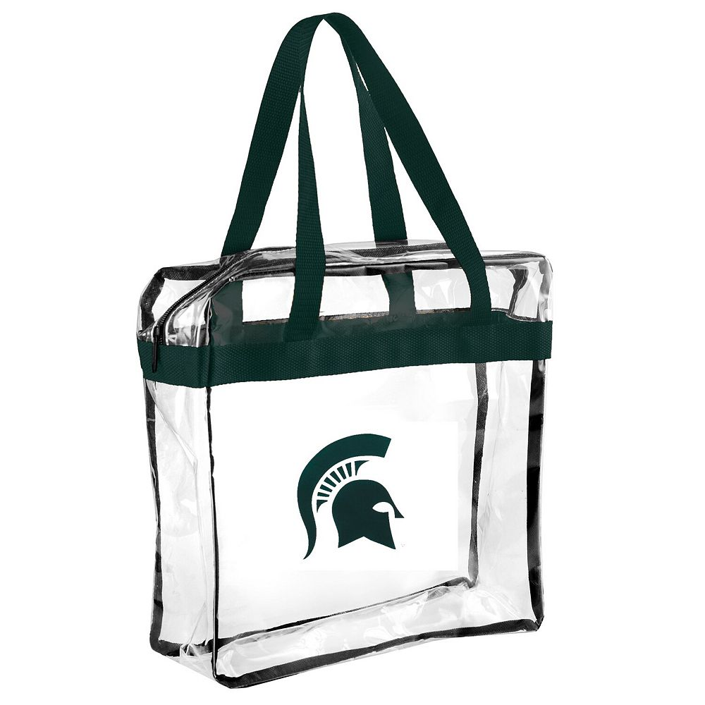 Michigan State Spartans Clear Basic Messenger Tote Bag