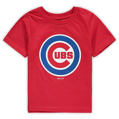 Toddler Red Chicago Cubs Primary Team Logo T-Shirt