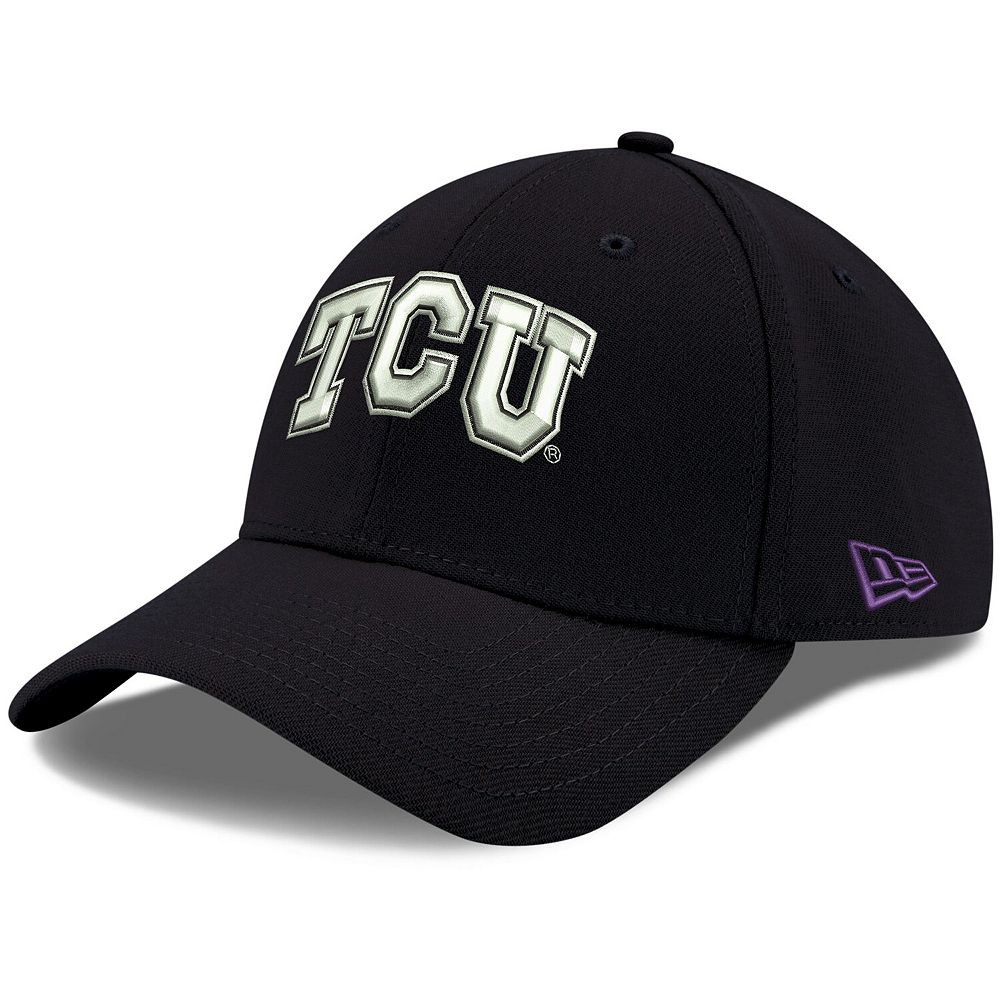 Men's New Era Black TCU Horned Frogs Relaxed 49FORTY Fitted Hat