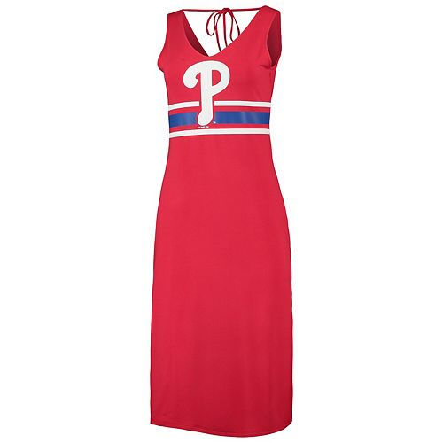 Women's G-III 4Her by Carl Banks Red/Royal Philadelphia Phillies Opening Day Maxi Dress