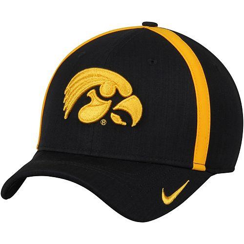 Men's Nike Black Iowa Hawkeyes 2017 Sideline AeroBill Coaches Performance Adjustable Hat
