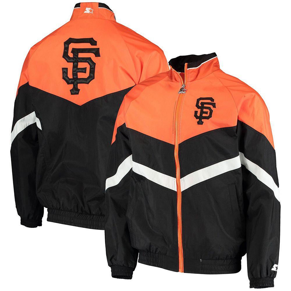 Men's Starter Black/Orange San Francisco Giants The Bench Coach Full-Zip Jacket