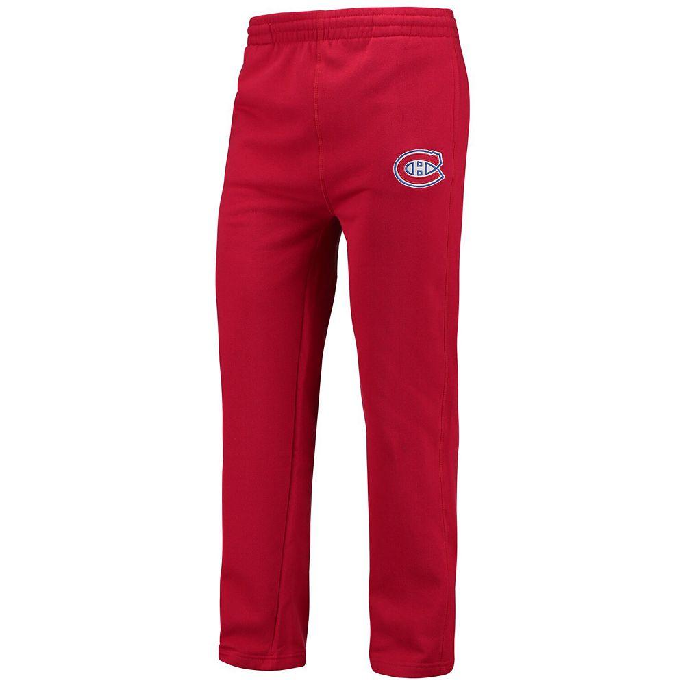 Men's Fanatics Branded Red Montreal Canadiens Anytime Fleece Pants
