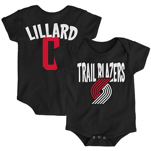 Infant Damian Lillard Black Portland Trail Blazers Name & Number Creeper