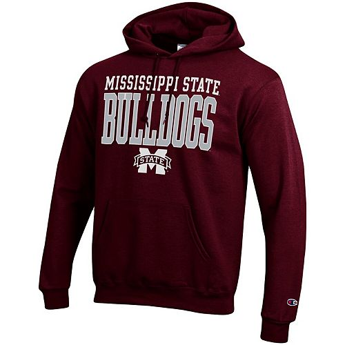 Men's Champion® Maroon Mississippi State Bulldogs Core Powerblend Hoodie