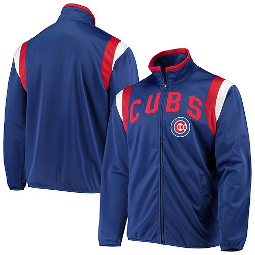 Men's G-III Sports by Carl Banks Royal Chicago Cubs Post Up Full-Zip Track Jacket
