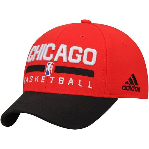 Youth adidas Red/Black Chicago Bulls Practice Adjustable Hat