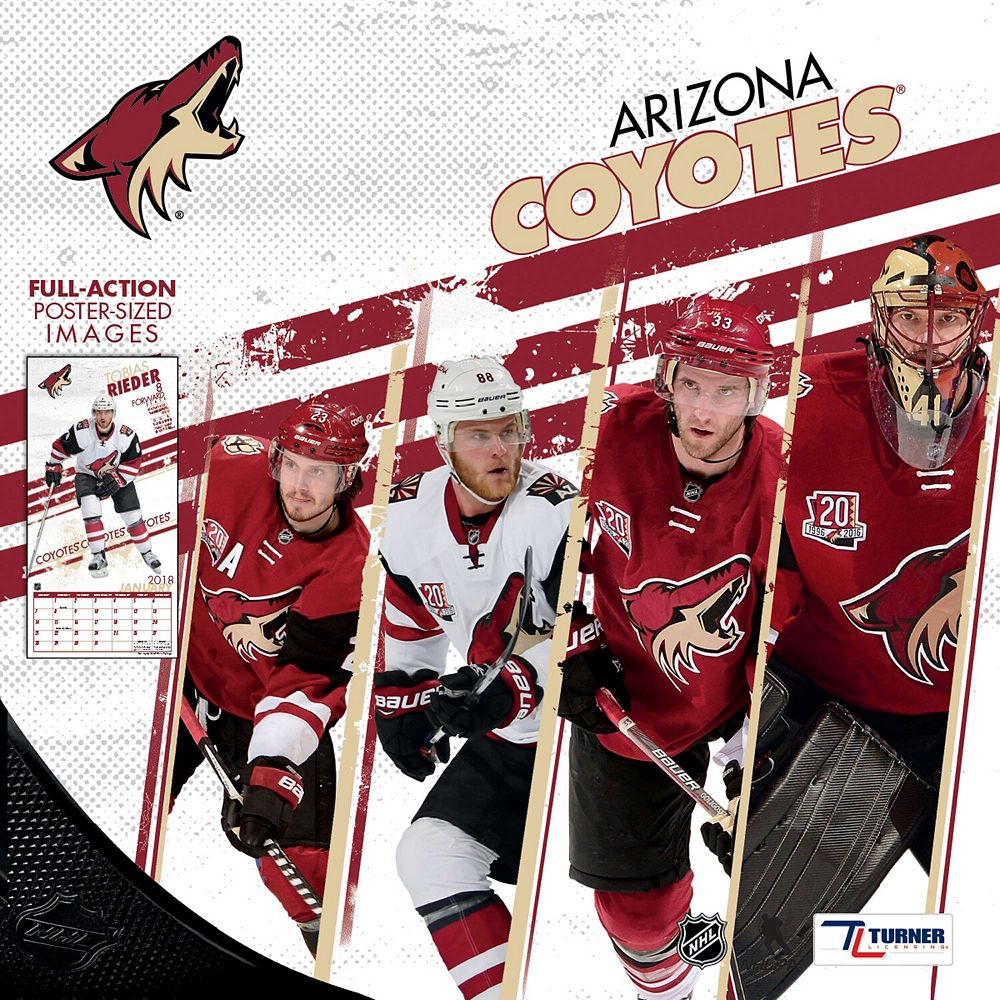 "Arizona Coyotes 2018 12"" x 12"" Team Wall Calendar"