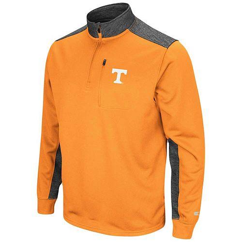 Men's Colosseum Tennessee Orange/Charcoal Tennessee Volunteers Samir Quarter-Zip Fleece Jacket