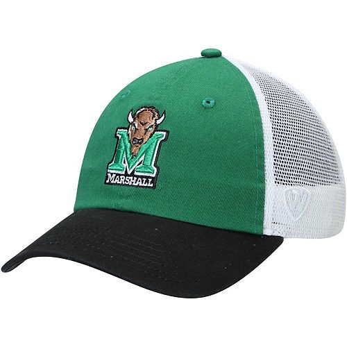 Men's Top of the World Kelly Green Marshall Thundering Herd Backroad Trucker Adjustable Hat