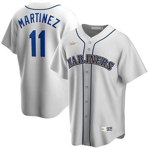 Men's Nike Edgar Martinez White Seattle Mariners Home Cooperstown Collection Replica Player Jersey