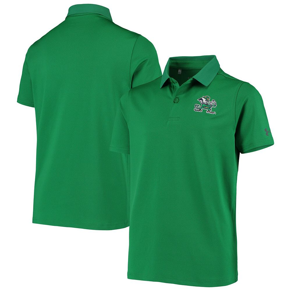 Youth Under Armour Green Notre Dame Fighting Irish Performance Polo