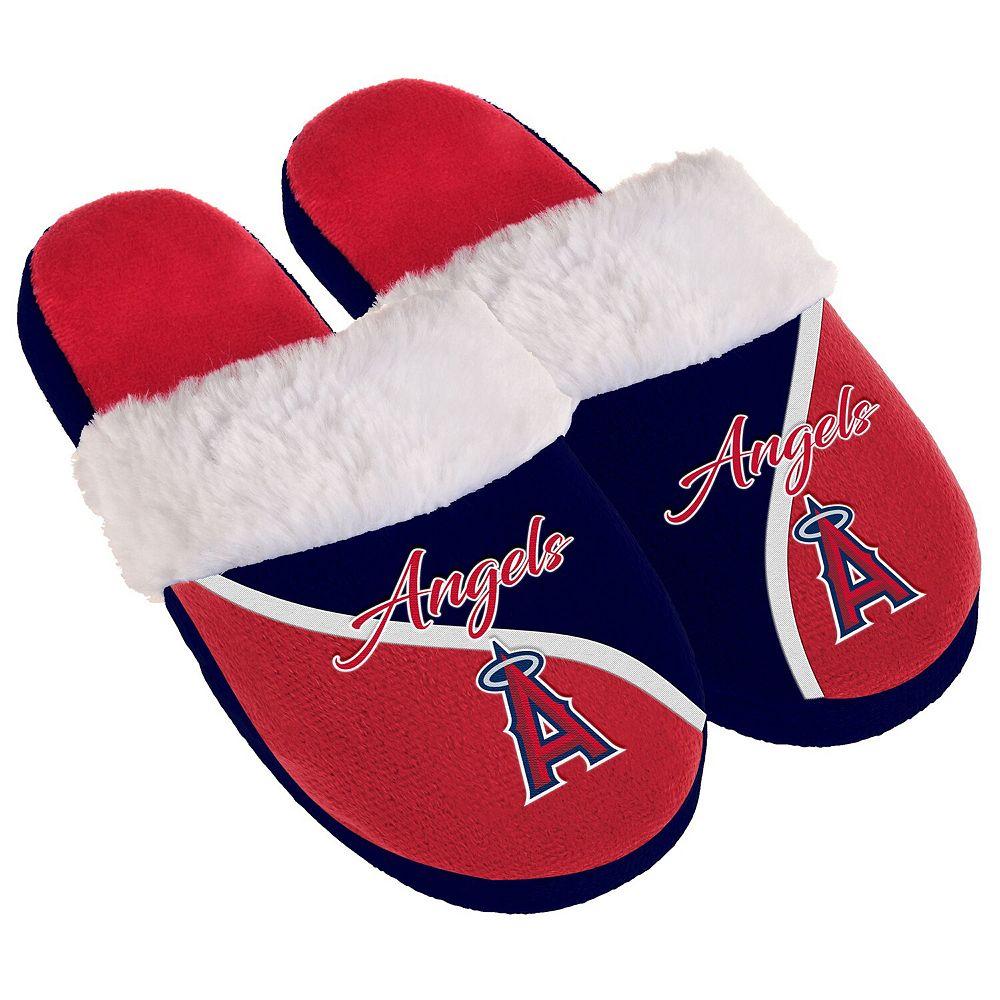 Women's Los Angeles Angels Cursive Colorblock Slippers
