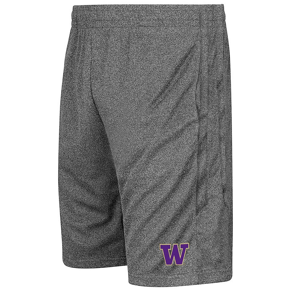 Men's Colosseum Heathered Charcoal Washington Huskies Sidler Shorts