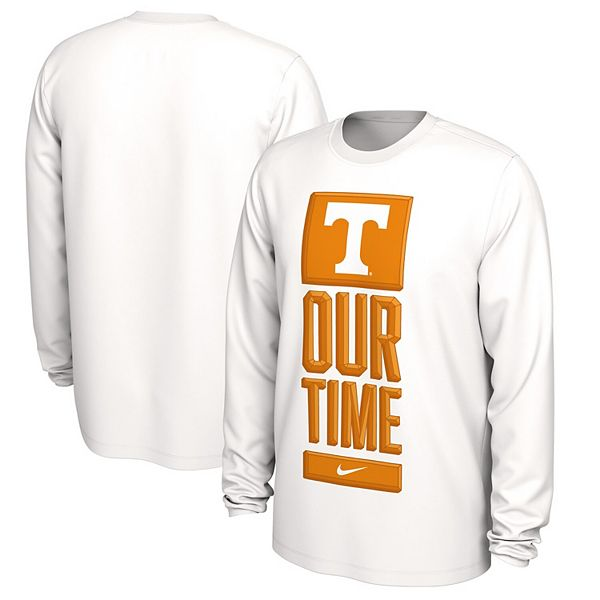 Men's Nike White Tennessee Volunteers Basketball Our Time Bench Legend Performance Long Sleeve T-Shirt