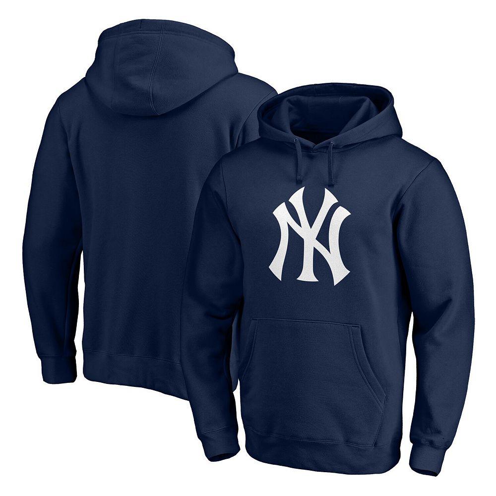 Men's Fanatics Branded Navy New York Yankees Official Logo Pullover Hoodie