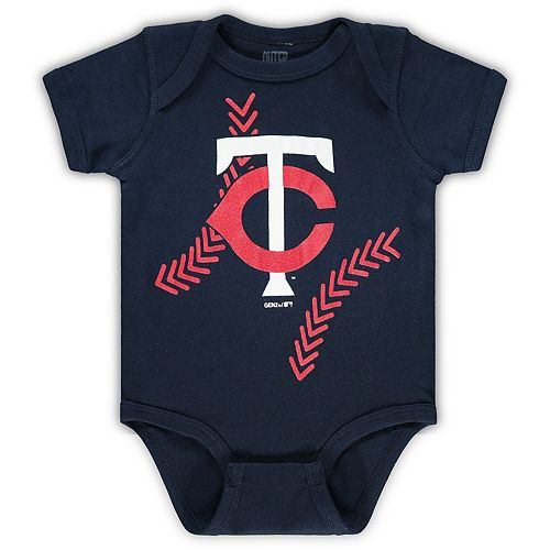Newborn & Infant Navy Minnesota Twins Running Home Team Bodysuit