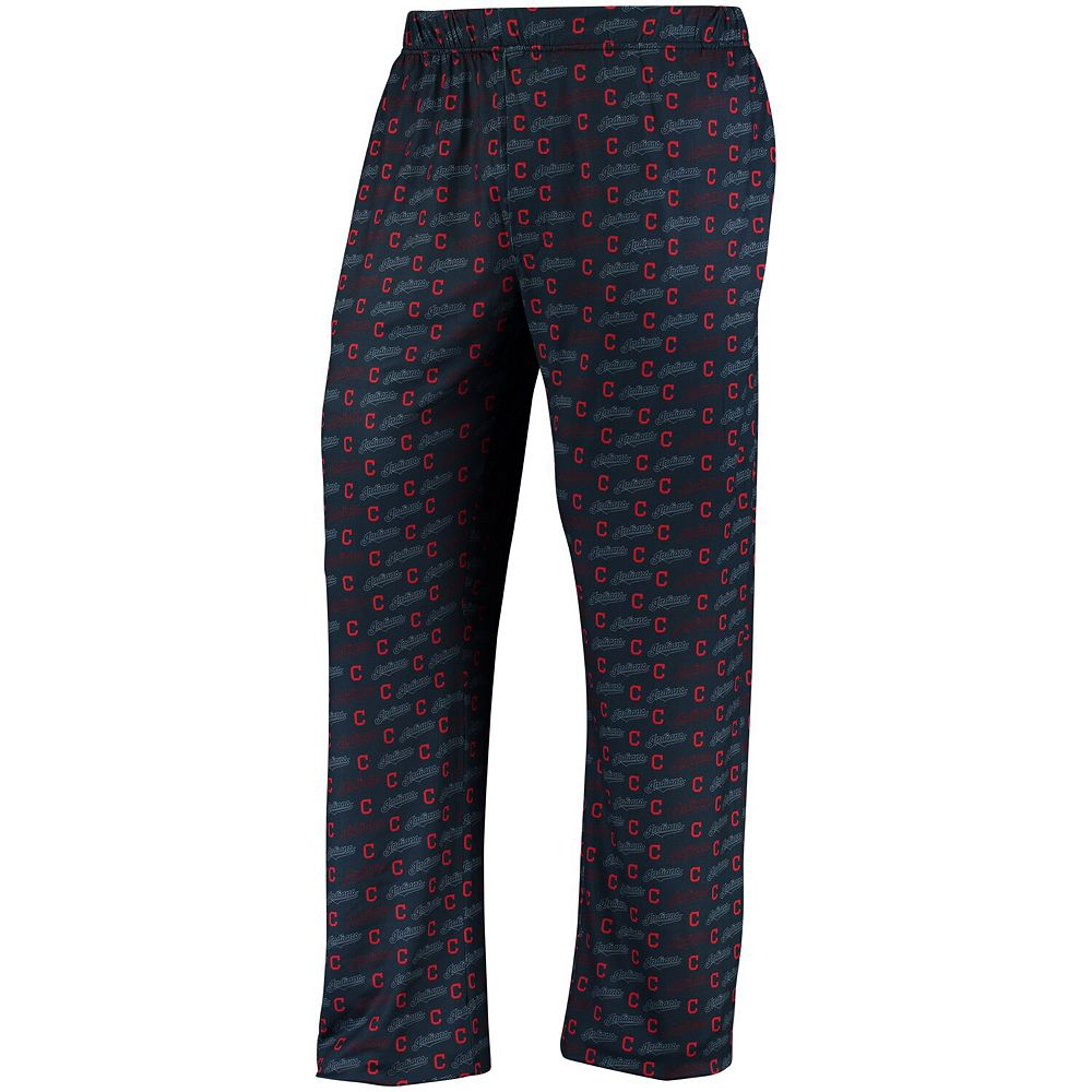 Men's Navy Cleveland Indians Thematic Polyester Print Pants