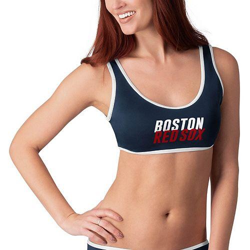 Women's G-III 4Her by Carl Banks Navy Boston Red Sox Pre-Game Bikini Top