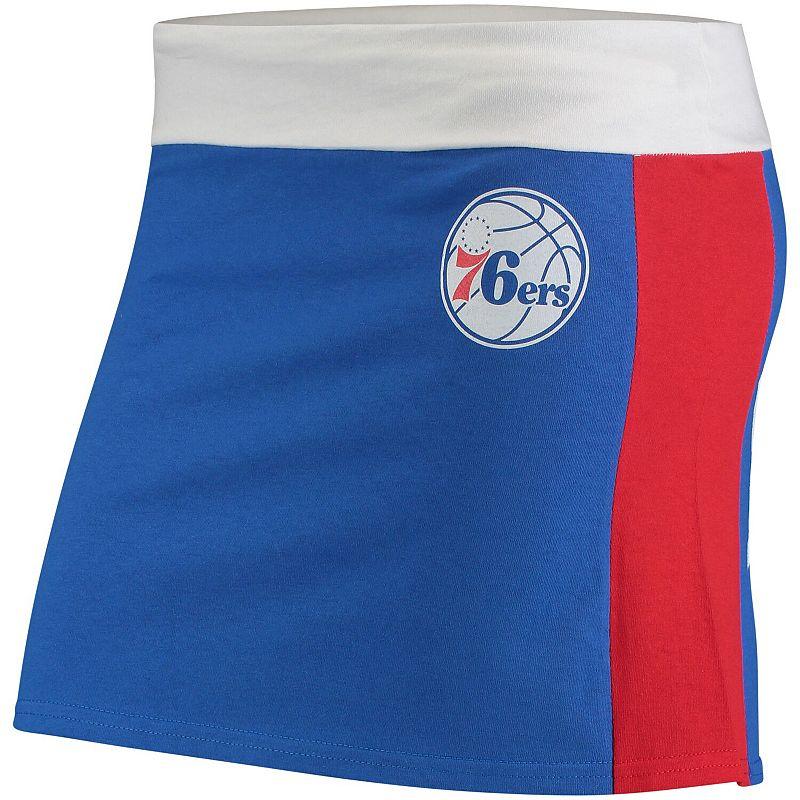 Women's Refried Tees Royal/Red Philadelphia 76ers Tee Mini Skirt, Size: XL, Blue
