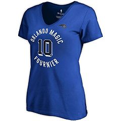 Large NBA Orlando Magic Womens On The Mark 1//2 Sleeve V-Neck Tee Black//Black Heather