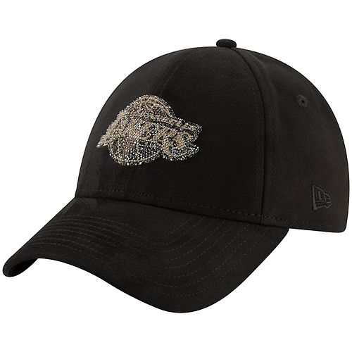 Men's New Era Black Los Angeles Lakers Swarovski 9FIFTY Adjustable Hat