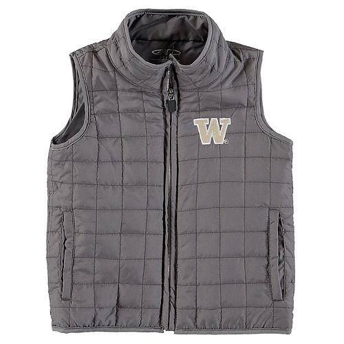 Toddler Charcoal Washington Huskies Porter Full-Zip Ripstop Vest