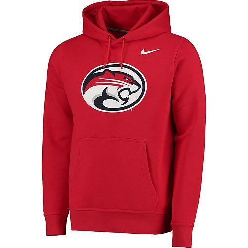 Men's Nike Red Houston Cougars Big Logo Fleece Hoodie