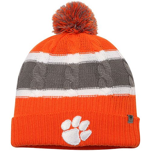 Toddler Top of the World Orange Clemson Tigers Windy Cuffed Knit Hat With Pom