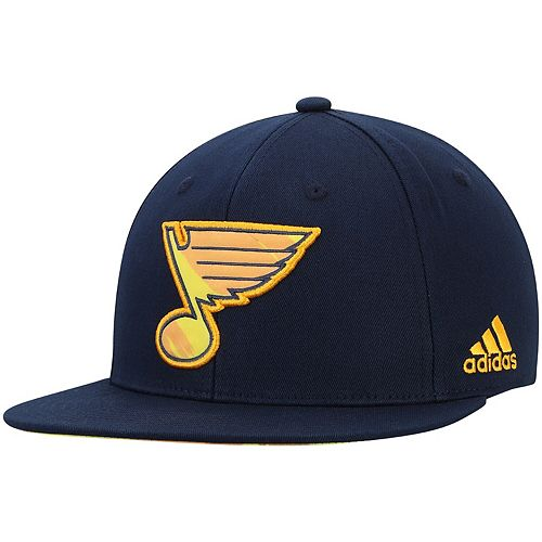 Men's adidas Navy St. Louis Blues Neon Brush Snapback Adjustable Hat