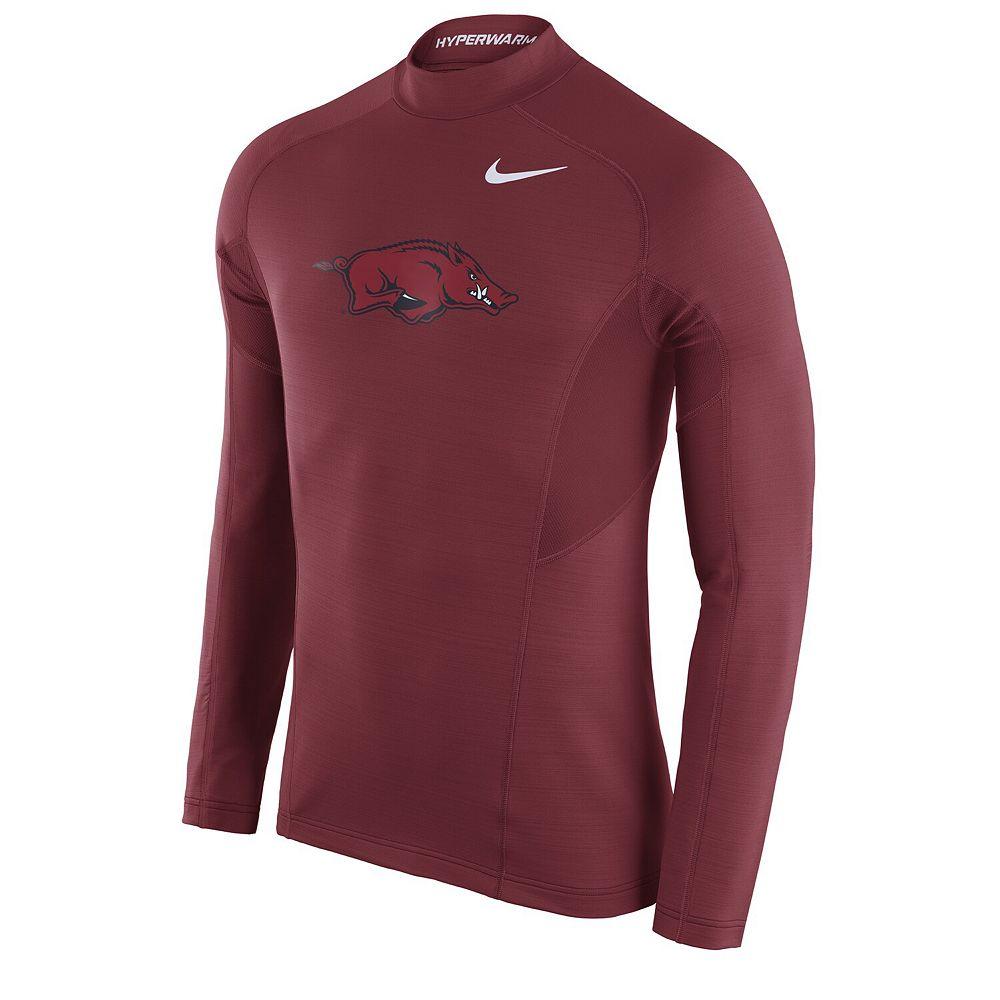 Men's Nike Cardinal Arkansas Razorbacks Player Hyperwarm Long Sleeve T-Shirt