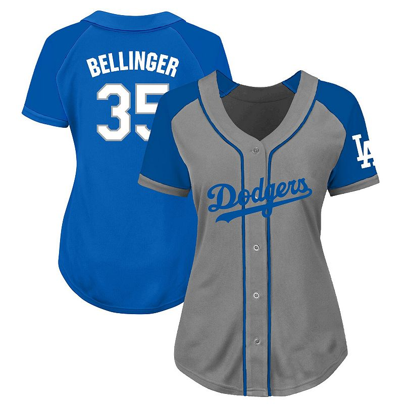 Women's Cody Bellinger Gray/Royal Los Angeles Dodgers Plus Size Jersey, Size: 3XL, Grey