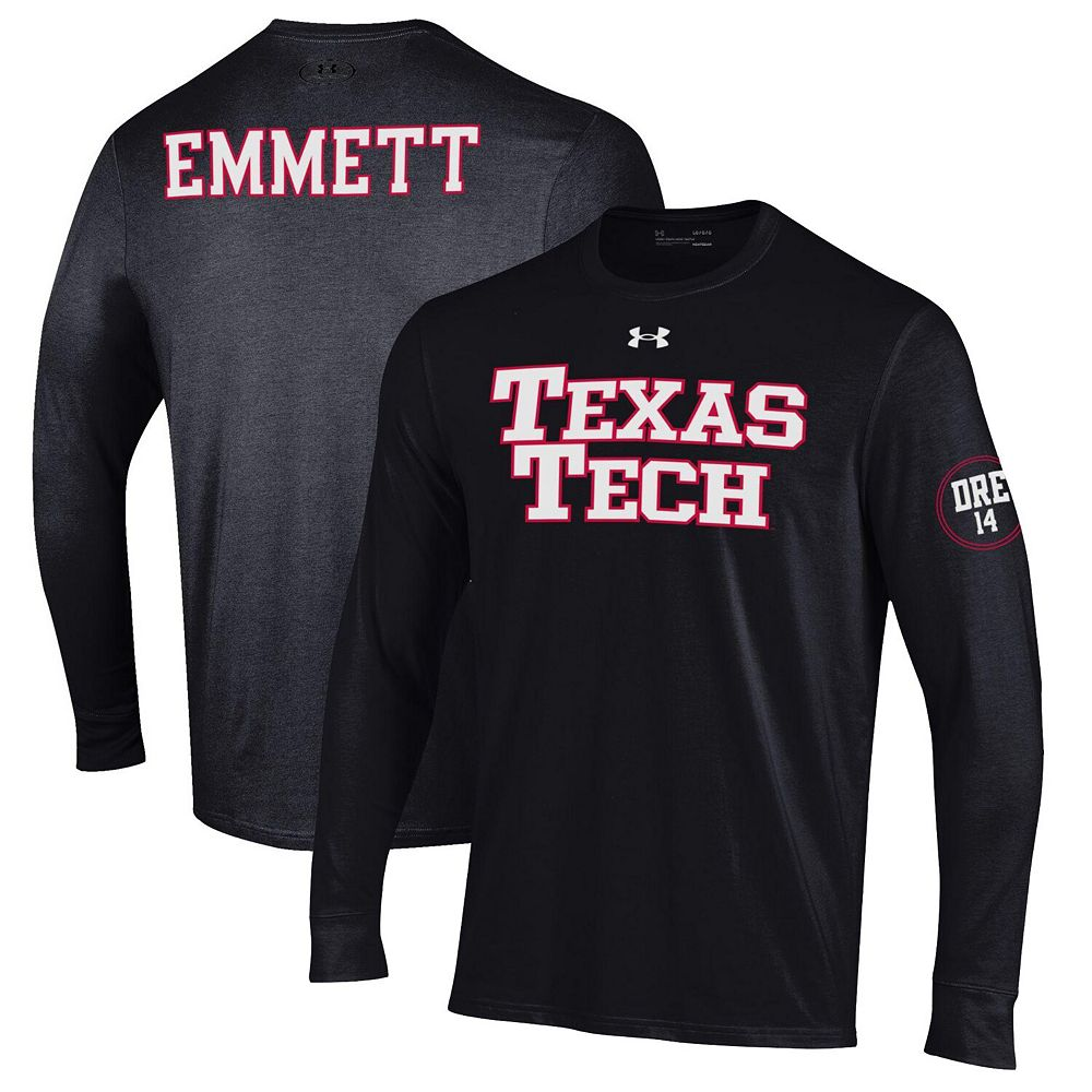 Men's Under Armour Black Texas Tech Red Raiders Andre Emmett Long Sleeve T-Shirt