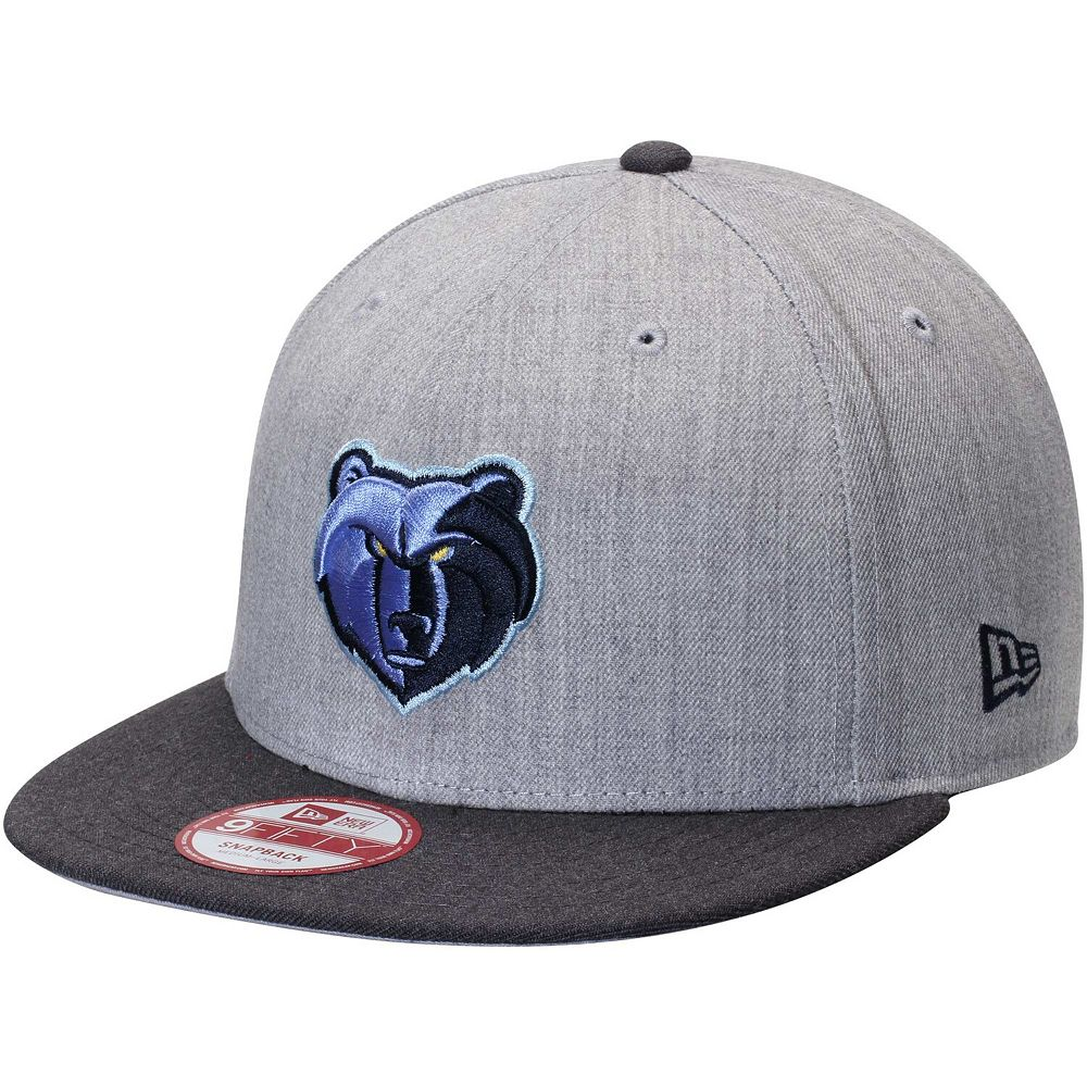 Men's New Era Heather Gray Memphis Grizzlies Action 2-Tone 9FIFTY Adjustable Hat