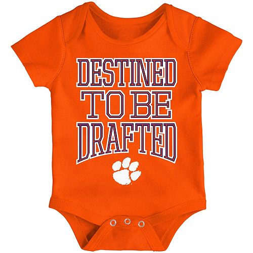 Newborn & Infant Orange Clemson Tigers Destined Bodysuit