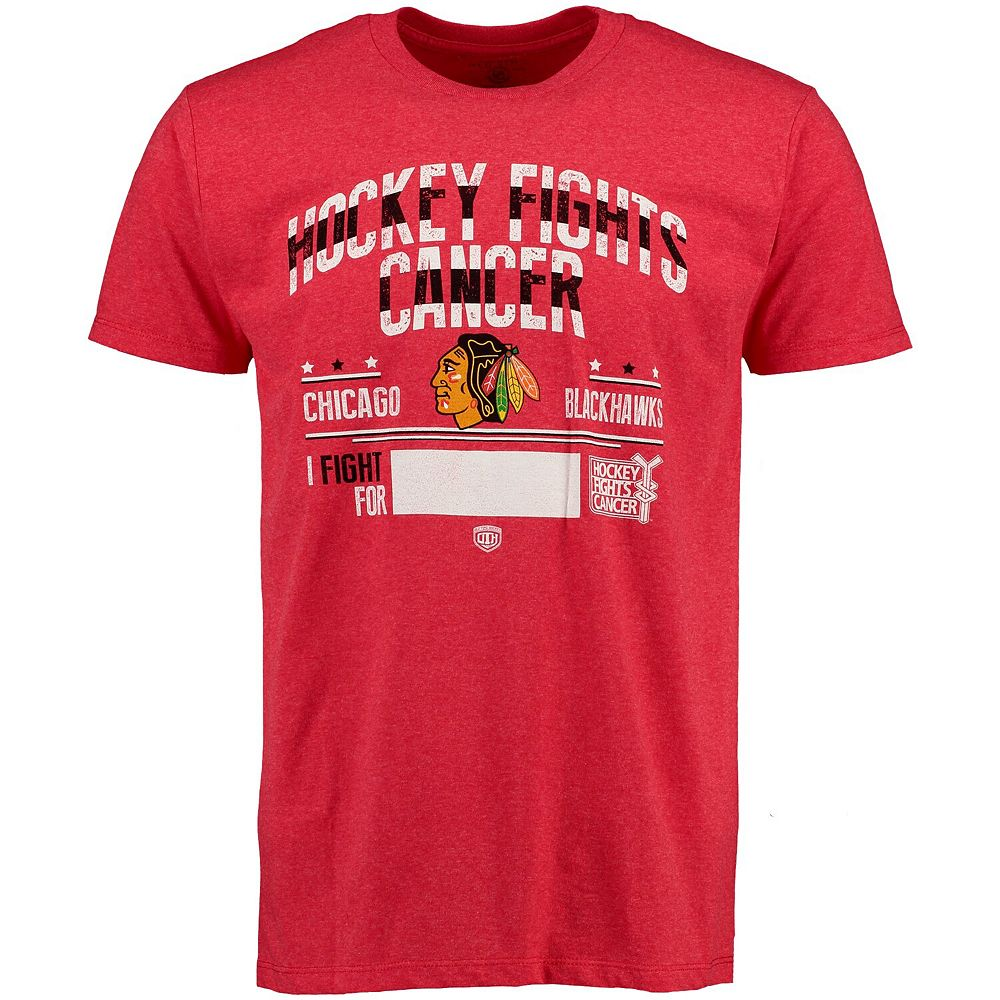 Men's Old Time Hockey Red Chicago Blackhawks 2015 Hockey Fights Cancer Crowell T-Shirt