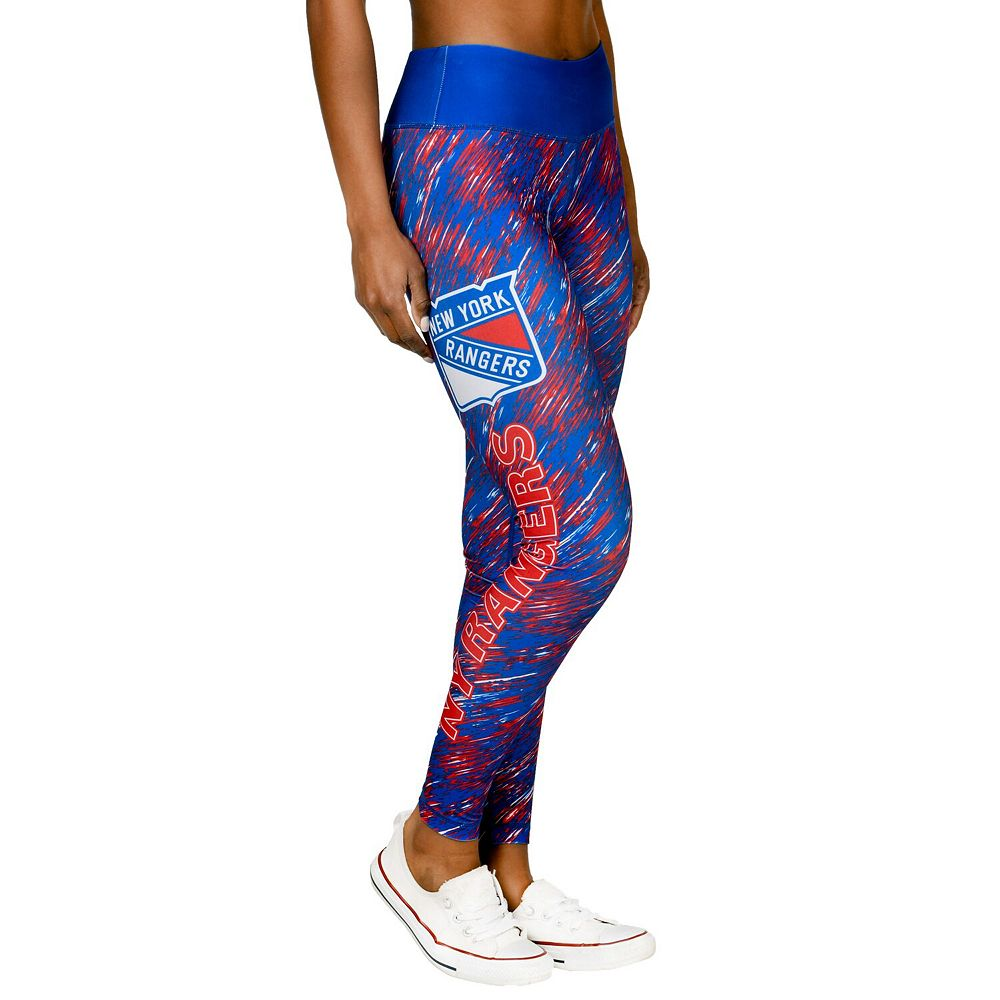 Women's Blue New York Rangers Static Rain Leggings
