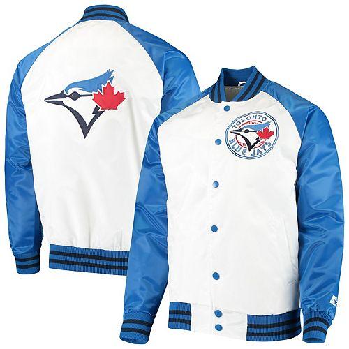Men's Starter White/Royal Toronto Blue Jays Clean-Up Hitter Full-Snap Jacket