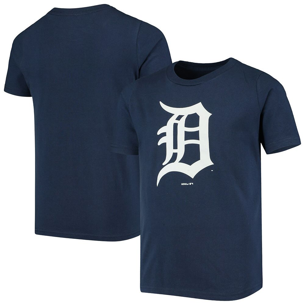 Youth Navy Detroit Tigers Primary Logo Team T-Shirt